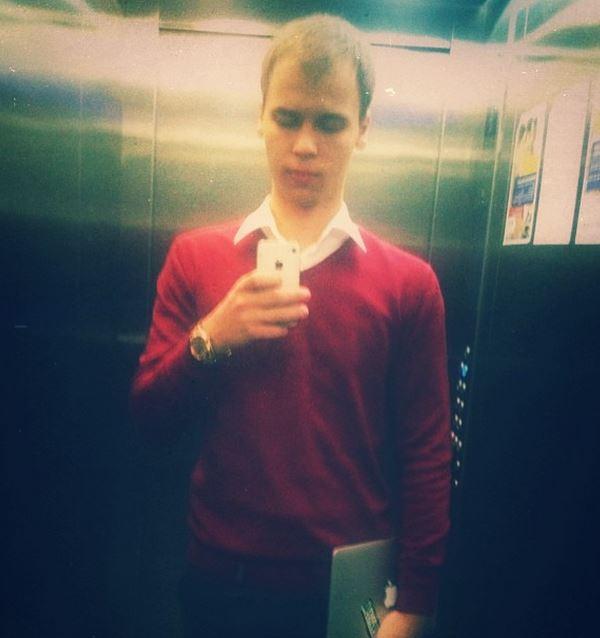 Vladislav Smolensev Selfie In Elevator