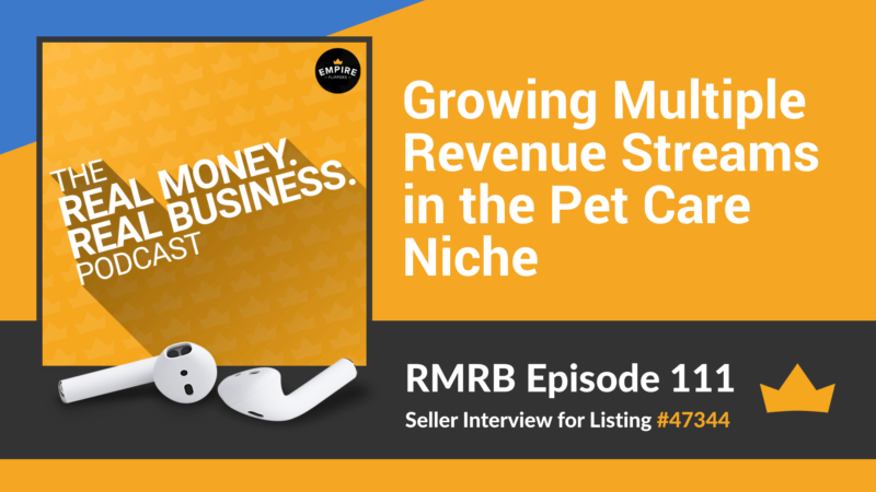 RMRB 111: Growing Multiple Revenue Streams in the Pet Care Niche