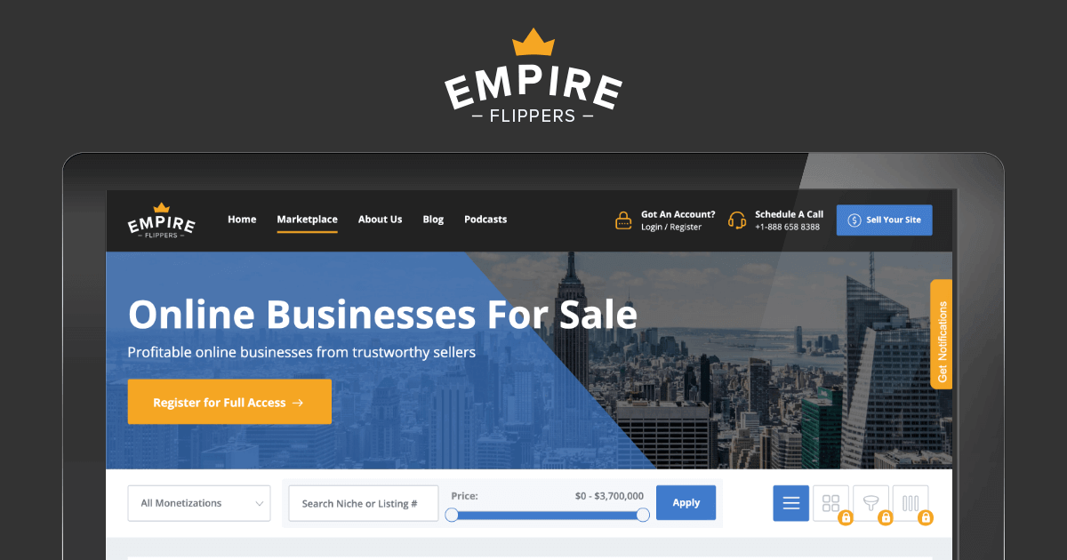Online Businesses For Sale On The Empire Marketplace